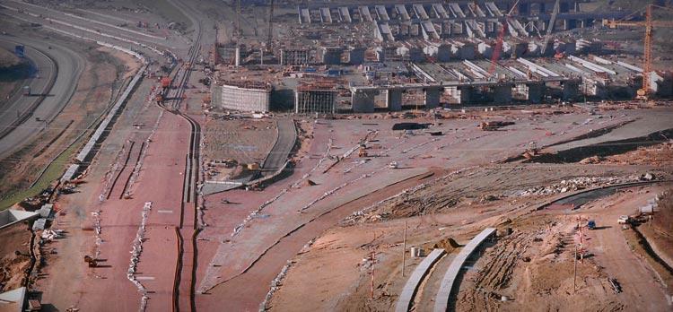 Eurotunnel terminal construction railway surveying